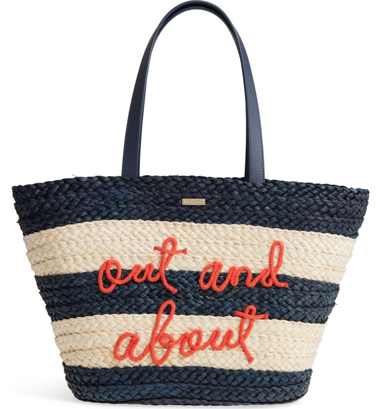 Out and About Straw Tote from Kate Spade