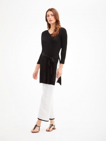 Tunic Length Black Sweater from The Carlisle Collection.