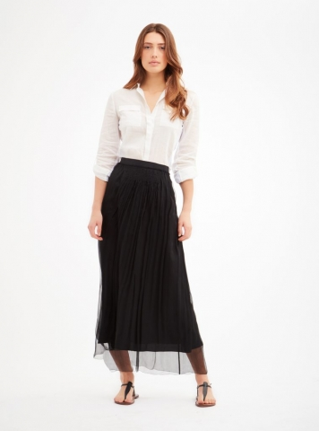 Maxi black skirt from the Carlisle Collection.