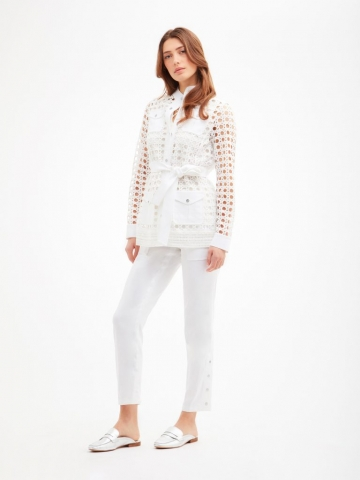Breezy retro macrame jacket from the Carlisle Collection.