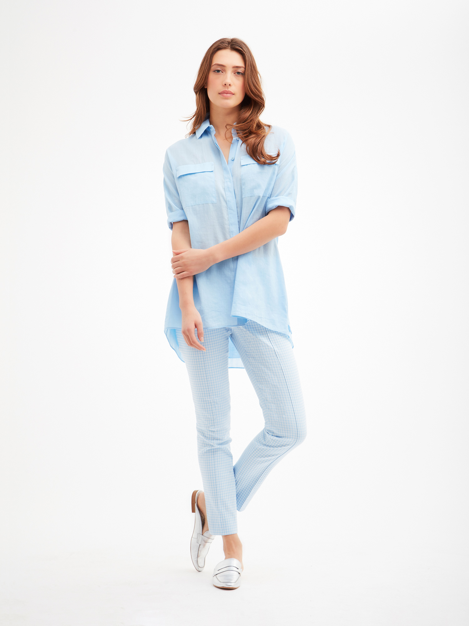 Oversize A-line tunic from the Carlisle Collection.