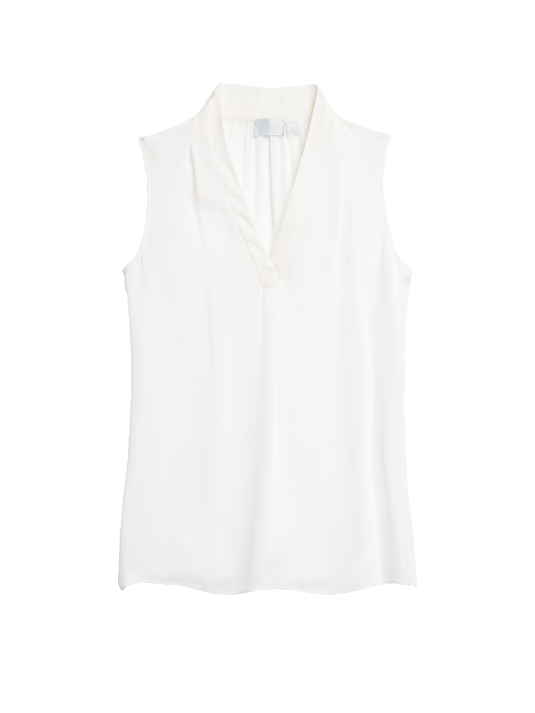 Sleeveless silk double georgette blouse from Carlisle