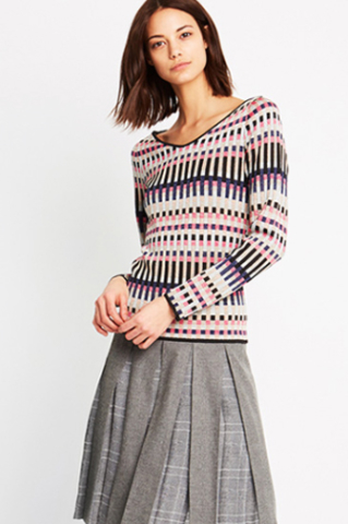 Storm Skirt & Nottingham Knit Sweater from Calisle
