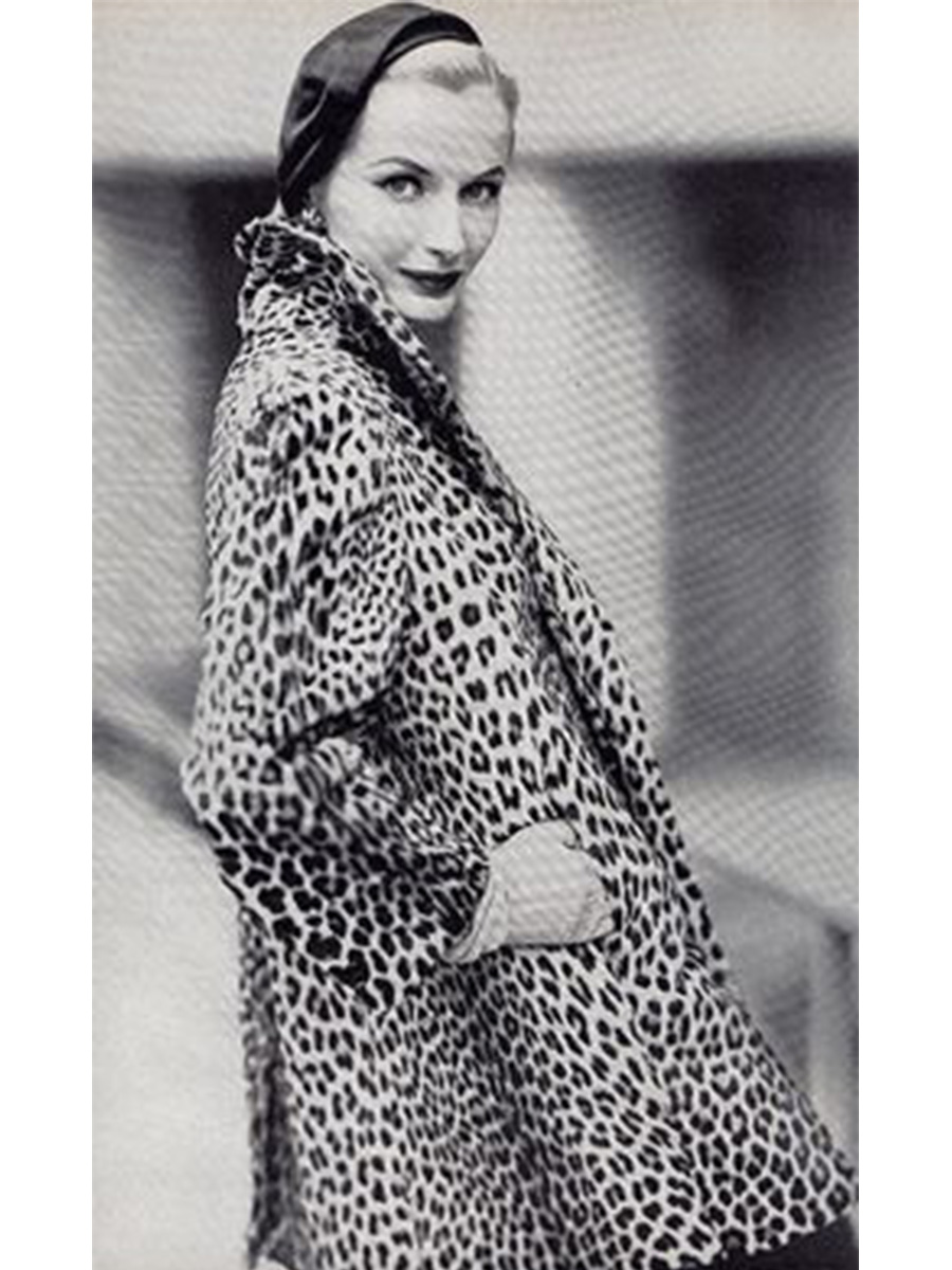 1950s Leopard Coat